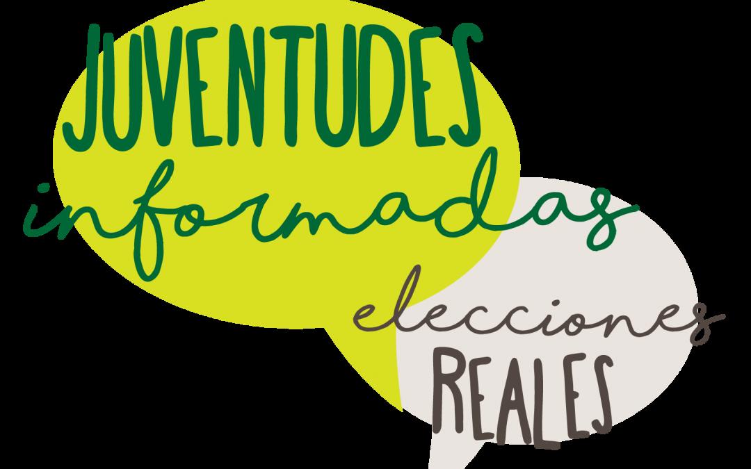 Diseño de identidad y materiales de difusión para el proyecto Juventudes Informadas Elecciones Reales · Sumando Argentina
