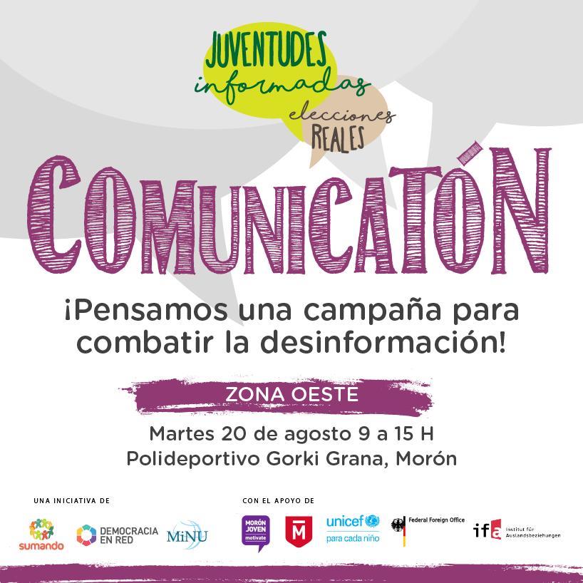Placas para redes «Comunicatón» Proyecto Juventudes Informadas